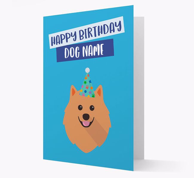 Personalized 'Happy Birthday Your Dog' Card with Pomeranian Icon