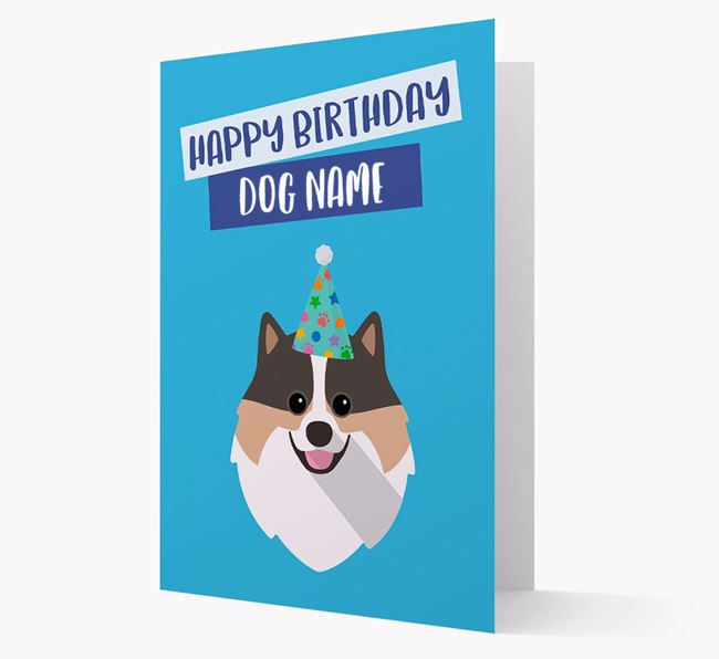 Personalised 'Happy Birthday Your Dog' Card with Pomeranian Icon