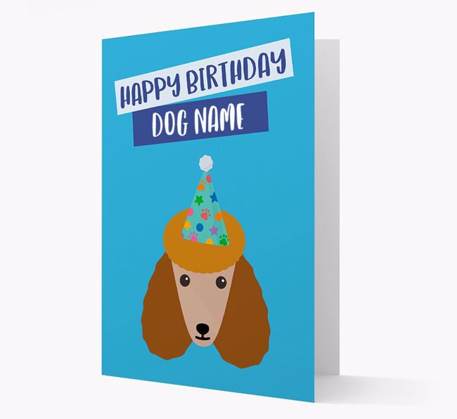Personalised 'Happy Birthday Your Dog' Card with Poodle Icon