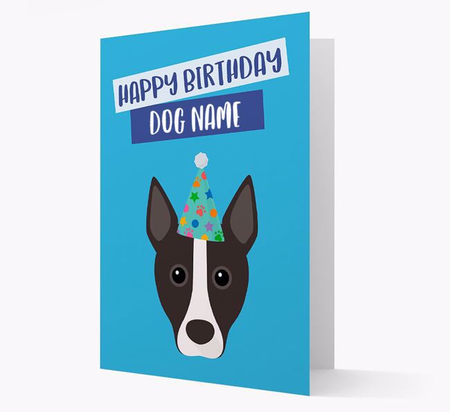 Personalized 'Happy Birthday Your Dog' Card with Podengo Icon