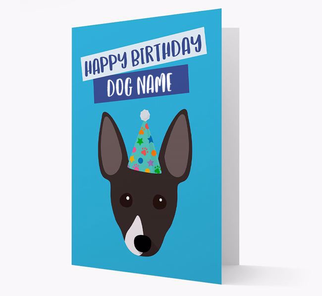 Personalized 'Happy Birthday Your Dog' Card with Rescue Dog Icon