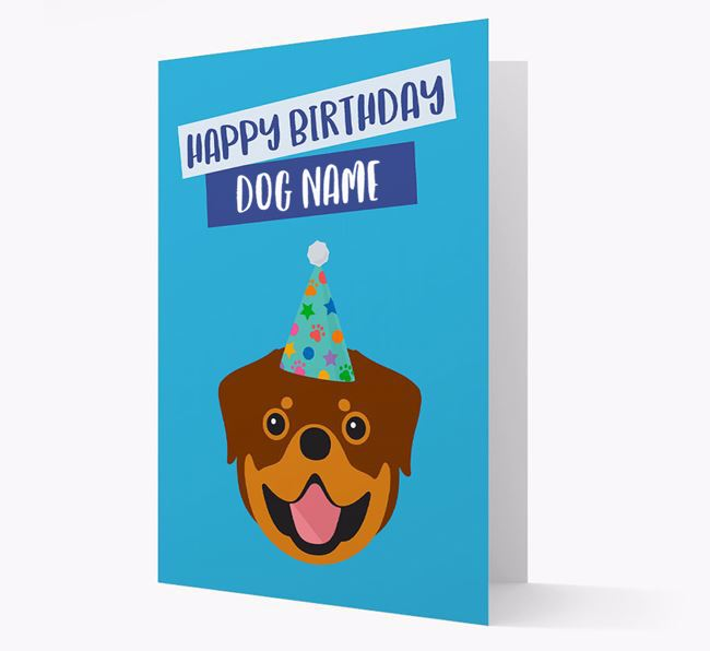 Personalized 'Happy Birthday Your Dog' Card with Rottweiler Icon