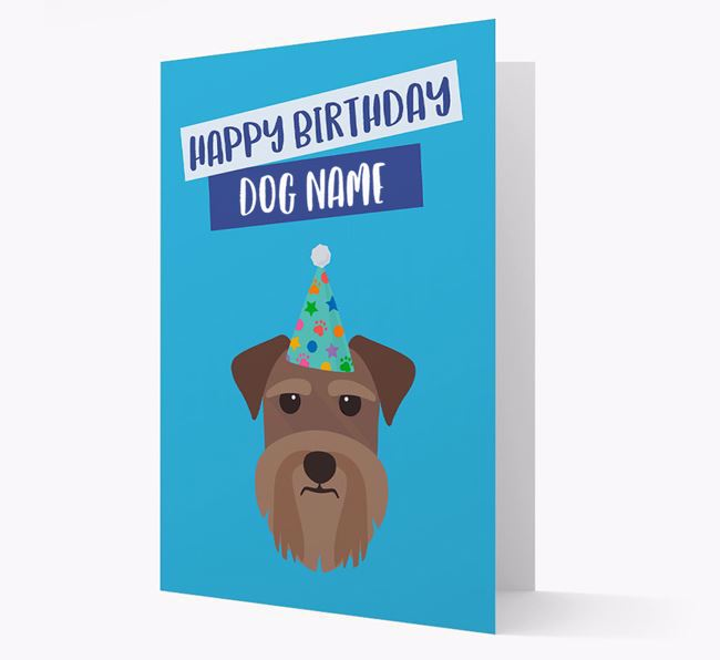 Personalised 'Happy Birthday Your Dog' Card with Schnauzer Icon