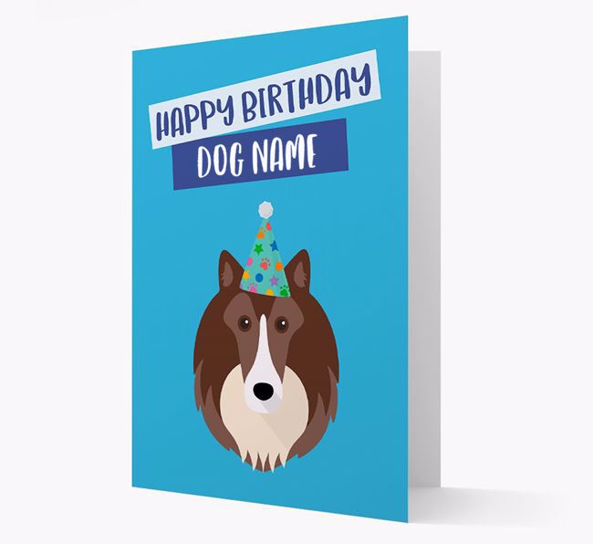 Personalized 'Happy Birthday Your Dog' Card with Sheltie Icon
