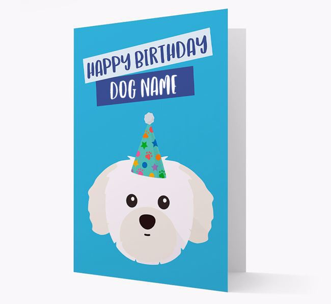 Personalised 'Happy Birthday Your Dog' Card with Shih Tzu Icon