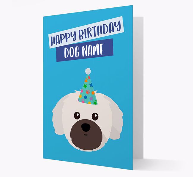 Personalized 'Happy Birthday Your Dog' Card with Shih Tzu Icon
