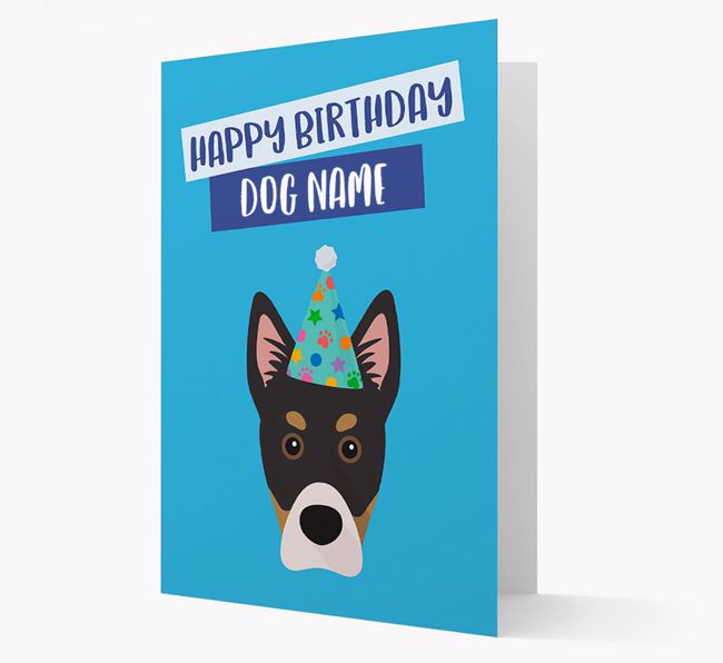 Personalized 'Happy Birthday Your Dog' Card with Siberian Cocker Icon
