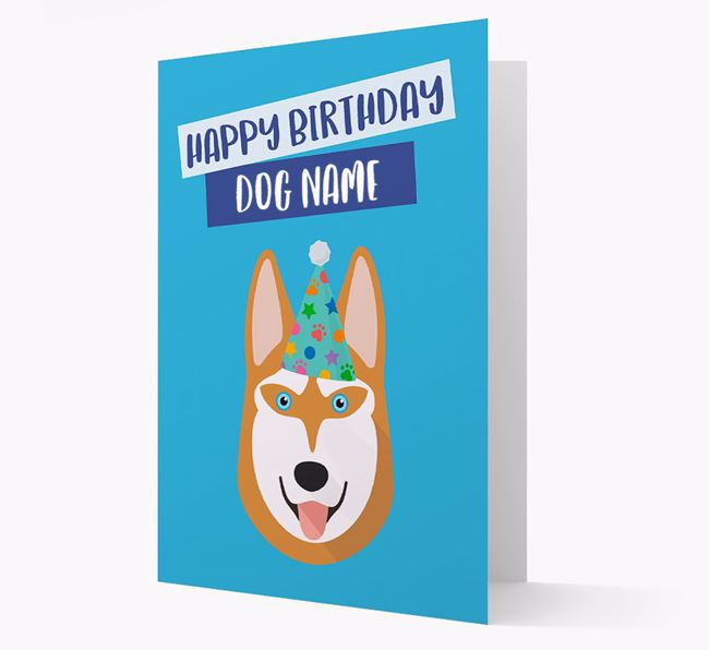 Personalized 'Happy Birthday Your Dog' Card with Husky Icon