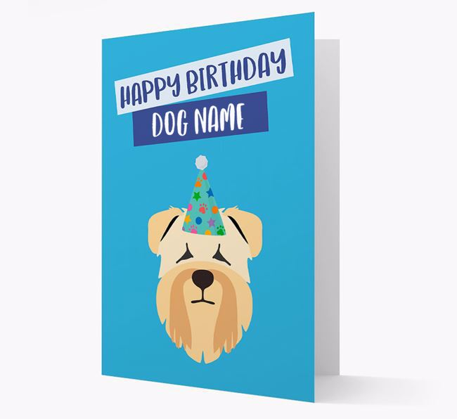 Personalized 'Happy Birthday Your Dog' Card with Wheaten Terrier Icon