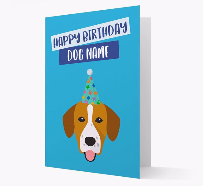 Personalised 'Happy Birthday Your Dog' Card with Springador Icon