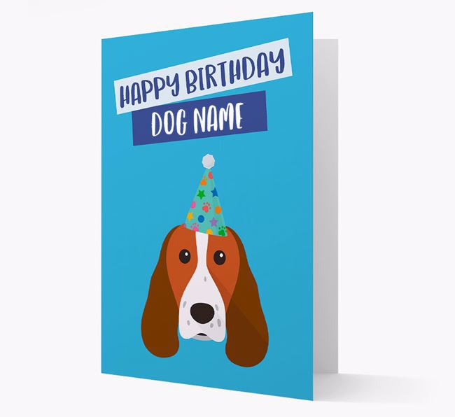 Personalised 'Happy Birthday Your Dog' Card with Springer Spaniel Icon