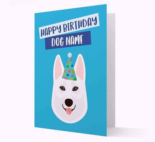 Personalised 'Happy Birthday Your Dog' Card with Tamaskan Icon