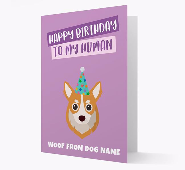 Personalized 'Happy Birthday To My Human' Card with Chihuahua Icon