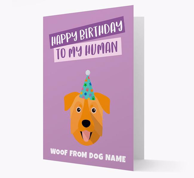 Personalized 'Happy Birthday To My Human' Card with Chinook Icon