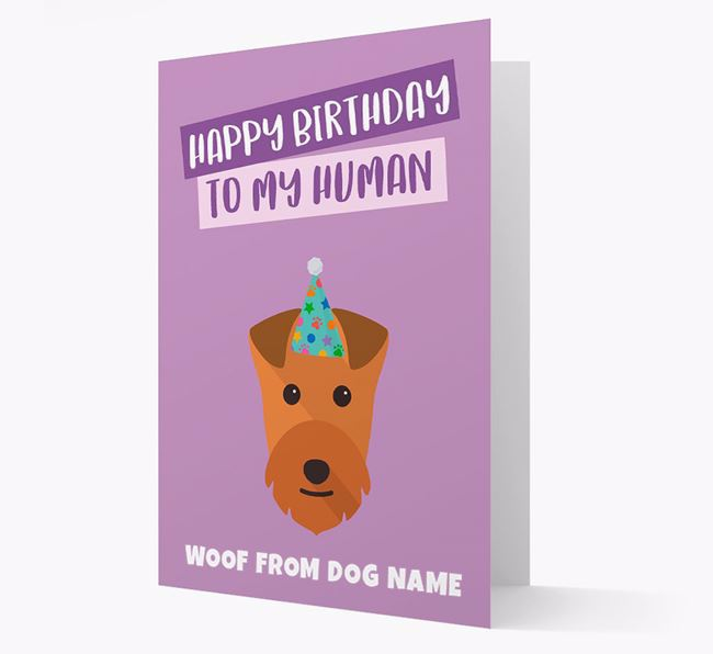 Personalized 'Happy Birthday To My Human' Card with Lakeland Icon