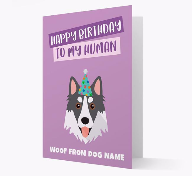 Personalized 'Happy Birthday To My Human' Card with Northern Inuit Icon