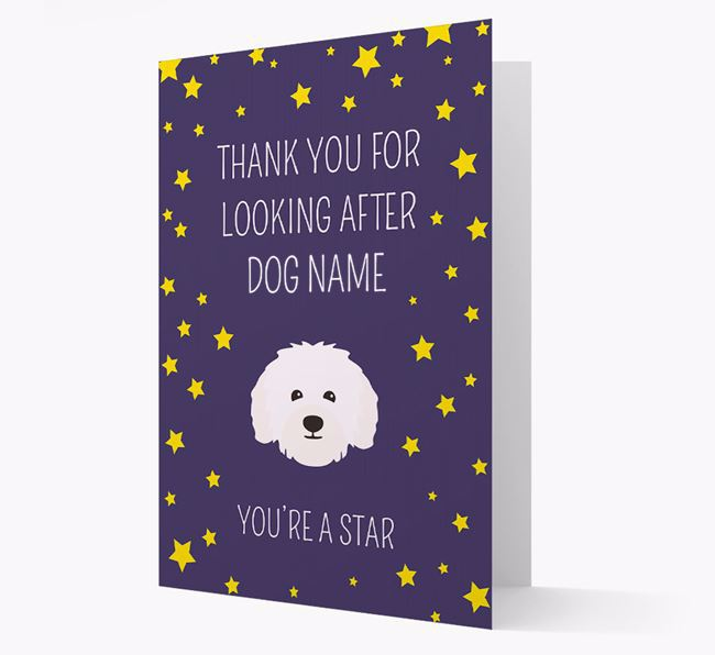Personalised 'You're A Star' Thank You Card