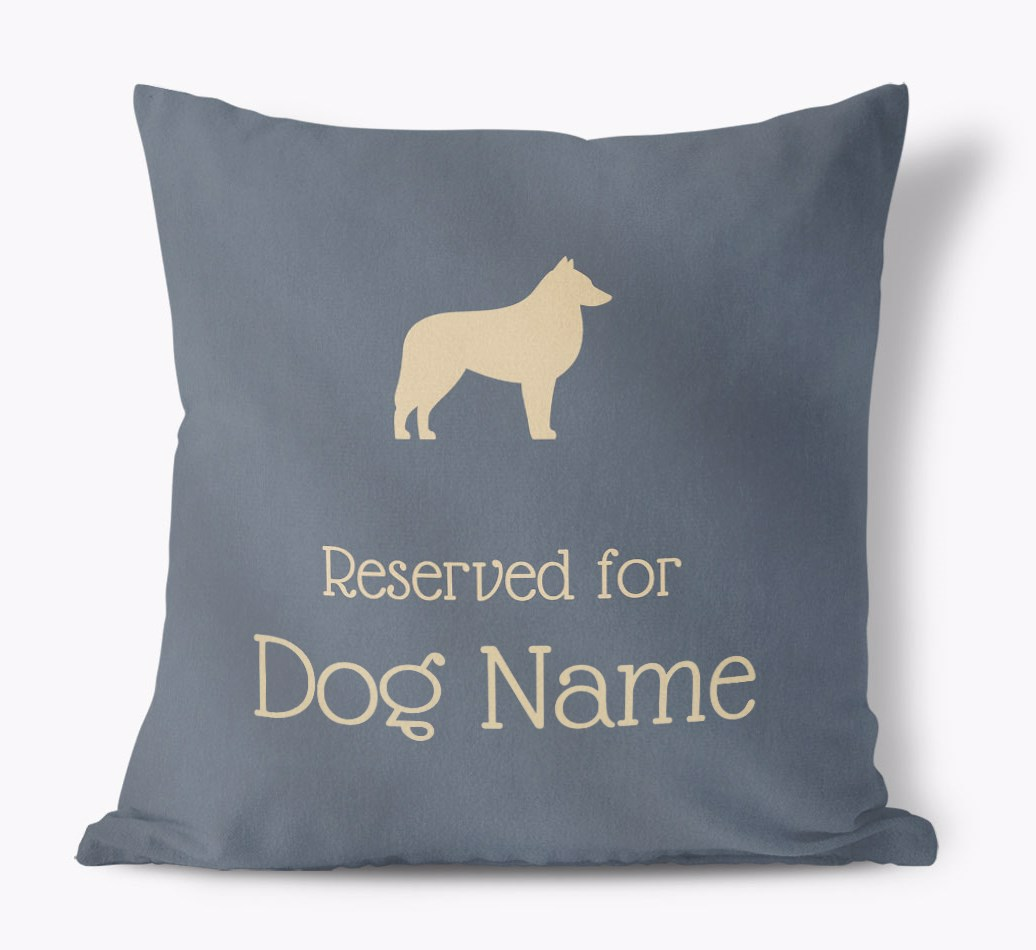 Reserved For {dogsName|your dog} Faux Suede Pillow