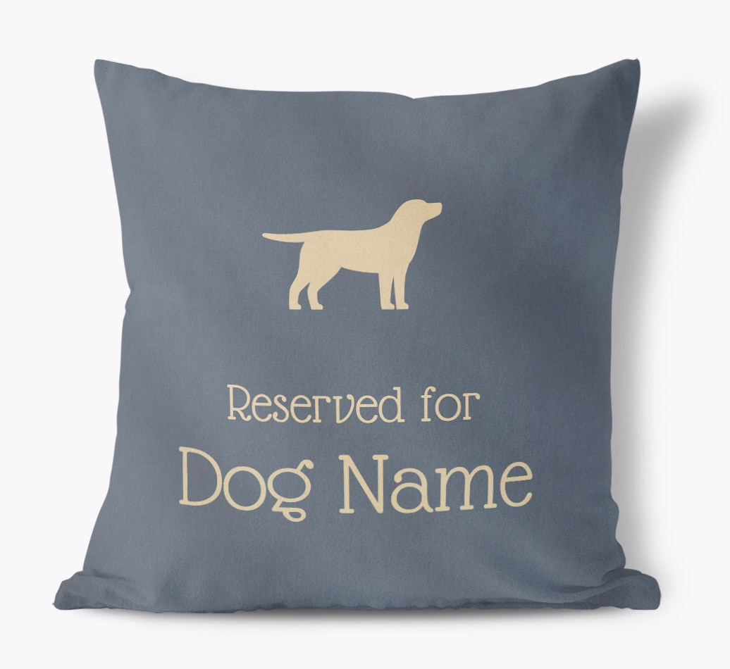 Reserved For {dogsName your dog} Faux Suede Pillow