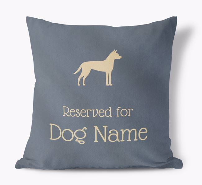 Reserved For Your Dog Faux Suede Cushion