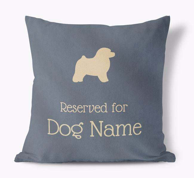 Reserved For Your Dog Faux Suede Pillow