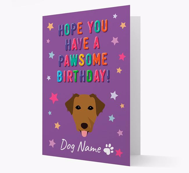Personalised Card 'Hope You Have A Pawesome Birthday' with Borador Icon