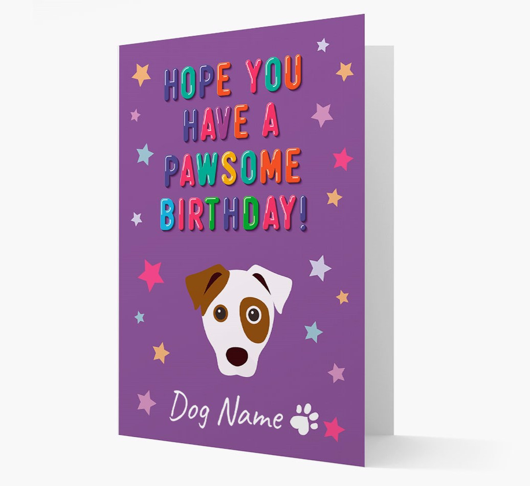 Personalized 'Hope You Have A Pawesome Birthday' Card with Dog Icon