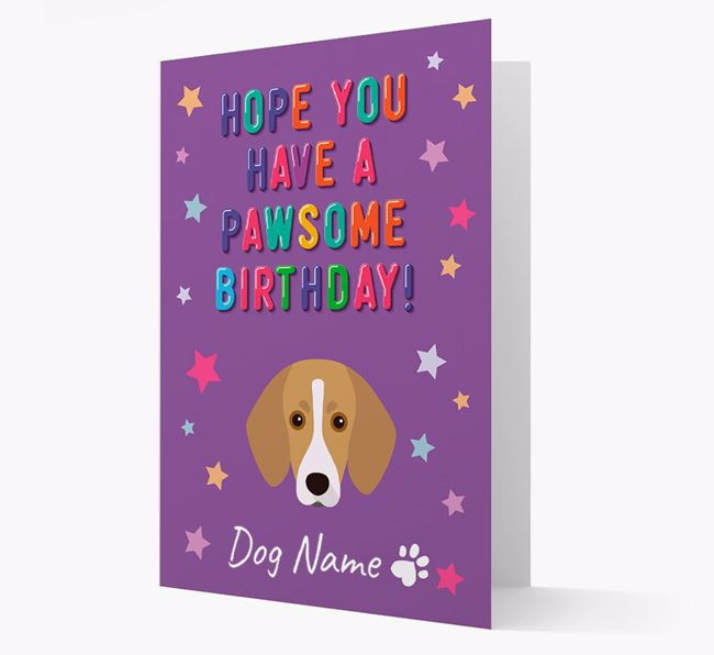 Personalised Card 'Hope You Have A Pawesome Birthday' with Trailhound Icon