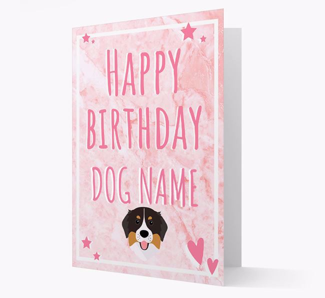 Personalized 'Happy Birthday' Card with Bernese Mountain Dog Icon