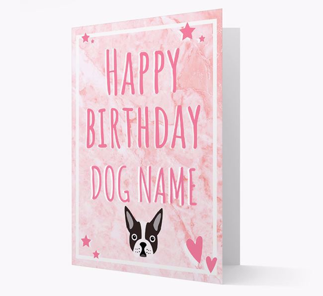 Personalised 'Happy Birthday' Card with Dog Icon