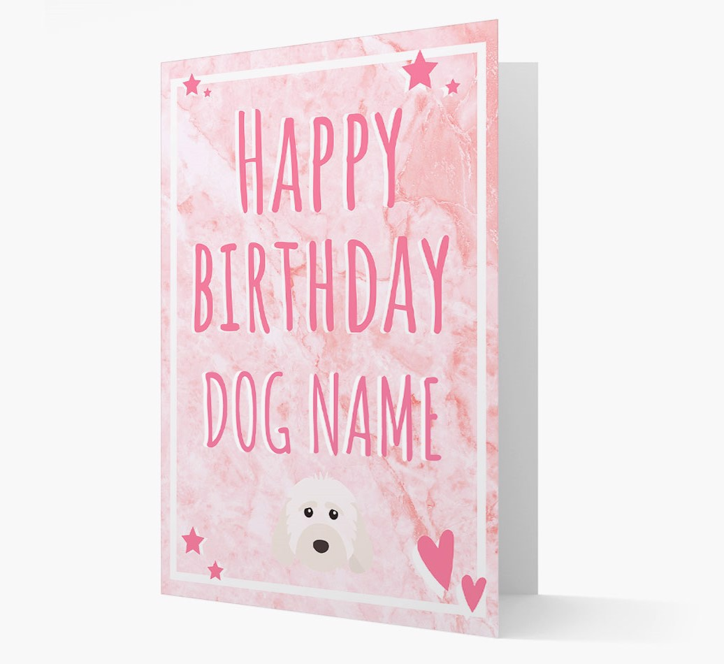 Personalized 'Happy Birthday'Card with Cockapoo Icon