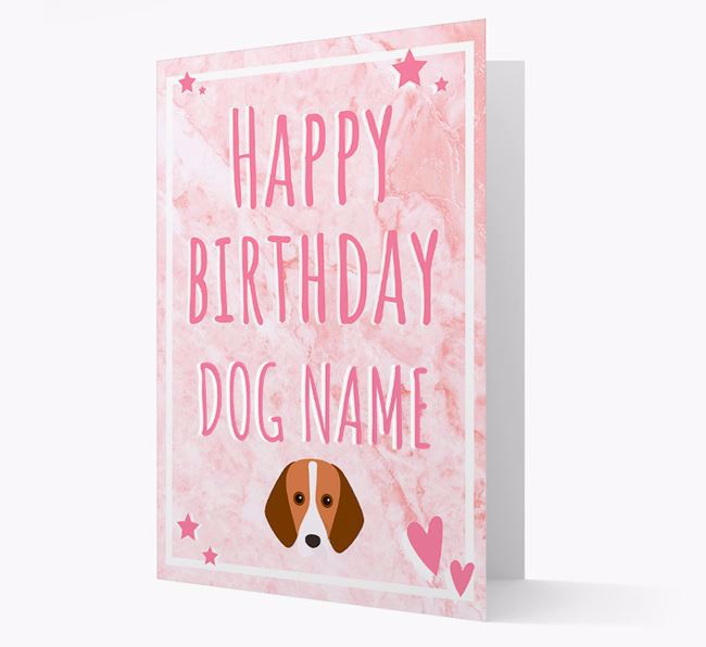Personalized 'Happy Birthday' Card with Harrier Icon