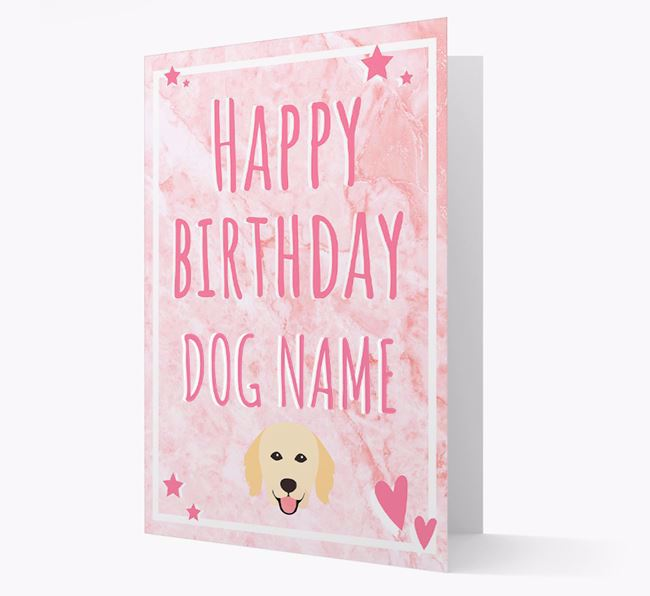 Personalized 'Happy Birthday' Card with Hovawart Icon
