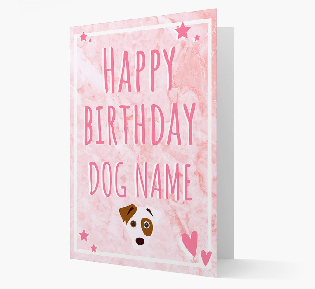 Personalized 'Happy Birthday'Card with Dog Icon