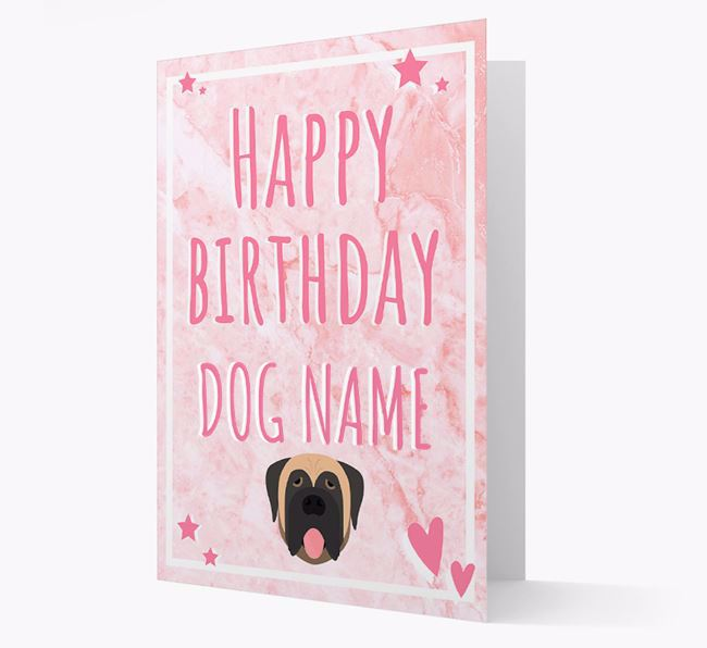 Personalized 'Happy Birthday' Card with Dog Icon