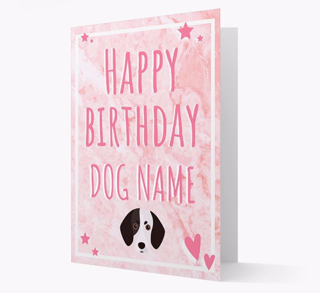 Personalized 'Happy Birthday' Card with Trailhound Icon