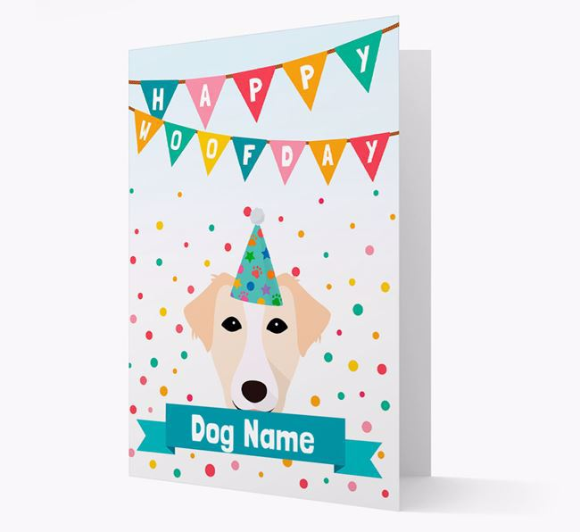 Personalized Card 'Happy Woofday Your Dog' with Borador Icon