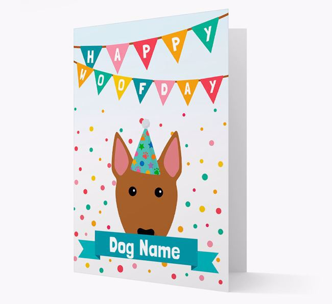 Personalised Card 'Happy Woofday Your Dog' with Bull Terrier Icon