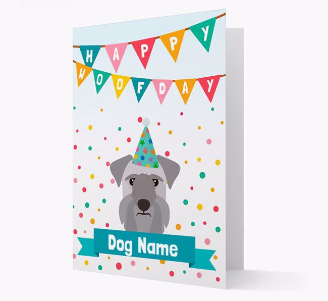 Personalised Card 'Happy Woofday Your Dog' with Cesky Terrier Icon