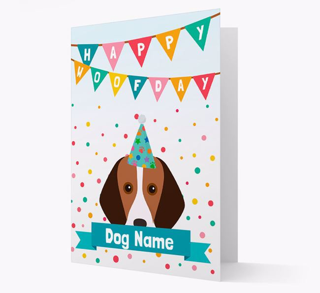 Personalised Card 'Happy Woofday Your Dog' with Foxhound Icon