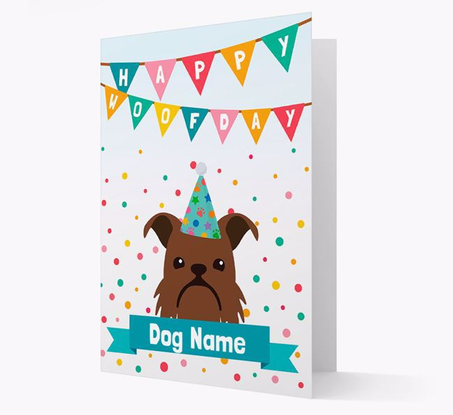 Personalized Card 'Happy Woofday Your Dog' with Brussels Griffon Icon