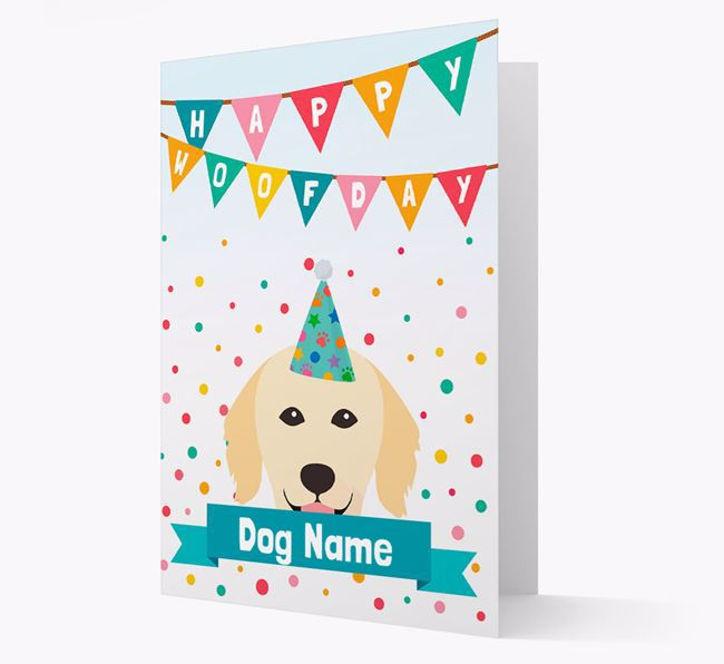 Personalized Card 'Happy Woofday Your Dog' with Hovawart Icon