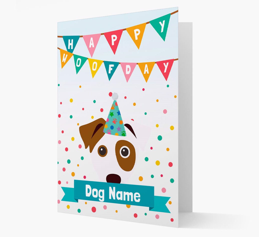 Personalized Card 'Happy Woofday {dogsName}' with Dog Icon