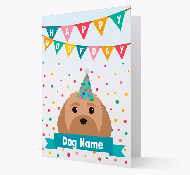 Personalized Card 'Happy Woofday Your Dog' with Dog Icon