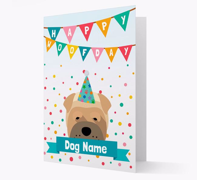 Personalised Card 'Happy Woofday Your Dog' with Dog Icon