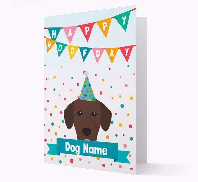 Personalised Card 'Happy Woofday Your Dog' with Springador Icon