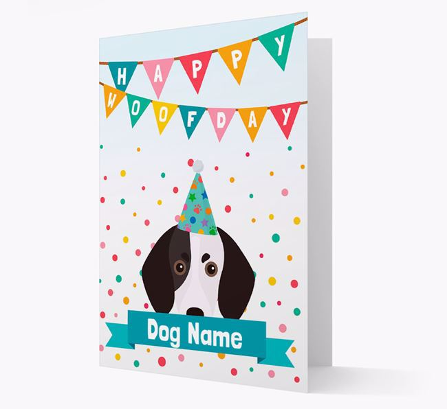 Personalized Card 'Happy Woofday Your Dog' with Trailhound Icon