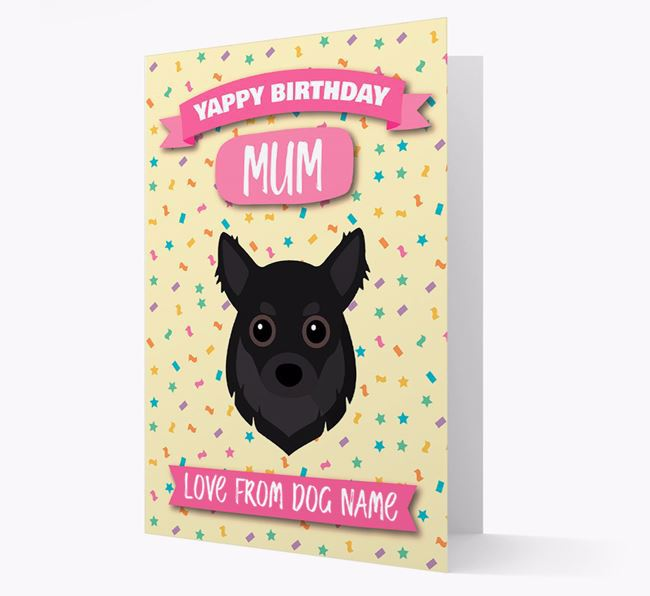 Personalised Card 'Yappy Birthday Mum' with Chihuahua Icon
