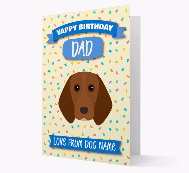 Personalised Card 'Yappy Birthday Dad' with Beagle Icon