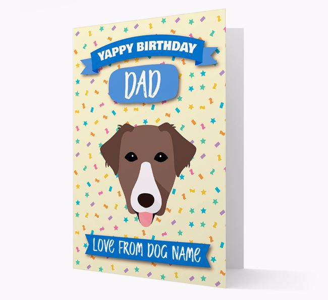 Personalized Card 'Yappy Birthday Dad' with Borador Icon